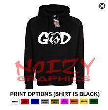 God Is Love Heart Cute Christian Hoodie Black Sweatshirt Jesus Religious Worship
