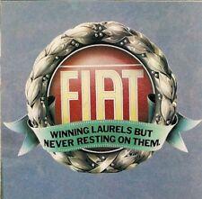 Fiat 1980 UK Market Foldout Brochure 126 127 128 Strada X1/9 131 132 Fiorino