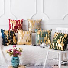 Bronzing Soft Pillowcase New Luxury Velvet Cushion Cover Decorative Pillow Set