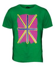 POP ART UNION JACK MENS FASHION PRINT T-SHIRT TOP GREAT BRITAIN FLAG GB TEAM