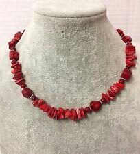 Collana di Corallo Naturale da Donna, Rosso ,Pietra Dura ,due modelli