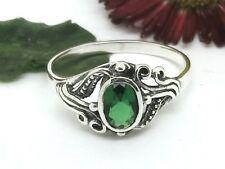 Zirkonia grün Silberring Jugenstil Design 925 Silber Ring Damenring Steinring