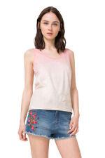 Desigual Peach Dip Dye Sleeves Canales Vest Top XS-XXL UK 8-18 RRP�34