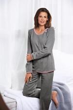 Nota lingerie Damen Pyjama Schlafanzug Nachtwäsche Hausanzug grau XL, XXL