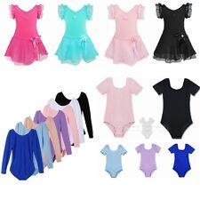 Girls Ballet Leotard Dancewear Kids Gymnastics Dance Dress Unitard Costume 3-12Y
