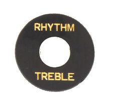 """PLACCHETTA RONDELLA """"RHYTHM-TREBLE"""" PER SWITCH CHITARRE TIPO GIBSON, NERA"""
