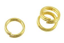 100 pcs split anneaux 6mm plaqué or (237693-4) fabrication de bijoux accessoires