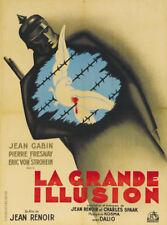 La grande illusion Jean Gabin French cult movie poster print