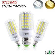 E27 E14 B22 24 30 42 64 80 LED Corn Light Bulb Smart IC Power 5730 SMD Lamp RD