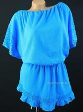 Victoria's Secret VS Crochet Flounce Dolman Cover Up Beach Gauzy Summer Dress