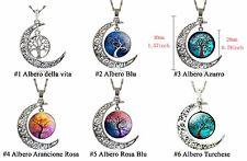 CIONDOLO+CATENINA luna albero della vita moon tree of life collana PAGAN WICCA