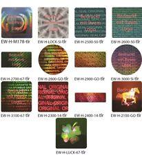 Hologramm-Aufkleber, Siegel Aufkleber, Hologramm, hell-rot bedruckt von EW