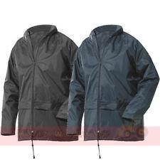Impermeable chaqueta de abrigo para hombre señoras transpirable de tormenta respiraderos Lluvia Senderismo Luz De Pvc