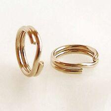 10Pcs Gold Filled Split jump Ring Charm pendant bail Connector