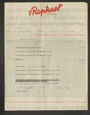 PARIS (III°) DISTILLERIE / LIQUEUR ST RAPHAEL QUINQUINA en 1949