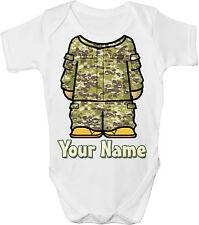 Armée / camouflage combat personnalisé bébé gilet / gro / body-cadeau * & * nommé