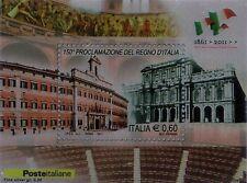 2011 150° Proclamazione del Regno d'Italia - foglietto su lamina d'argento