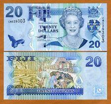 FIJI, 20 dollars, 2007, P-112 (112a), QEII, UNC