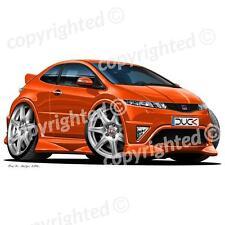Honda Civic Type R 2007+ - Vinyl Wall Art Sticker - Orange