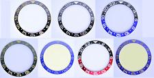 Cerámica ceramic Bezel lünette INSERT inlay adecuado para Rolex gmt Master II Seiko