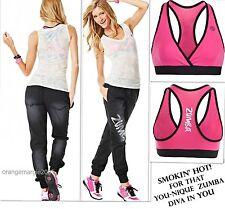 ZUMBA® 3Pc Set!~Black Denim Stretch Pants + Burn Out VTee + VBra Top -EliteZWear