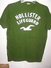 Hollister Lifeguards Green T-shirt NEW M Mens Applique