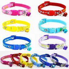 Collar de Perro Cachorro Small XS Pequeño Fuerte Clip Perro Paw Hueso Rosa Azul Morado Lindo