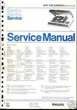 Philips Original Service Manual für HiFi TAP 22 RH 845