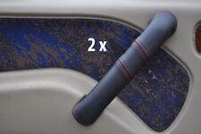 Red stitch fits nissan terrano 93-06 2X avant poignée porte couverture en cuir