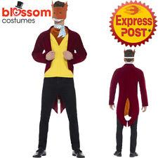 CA379 Mens Fantastic Mr Fox Roald Dahl World Book Week Fancy Dress Up Costume