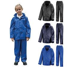 Veste Imperméable Enfant & pantalons rain suit Rainsuit Enfants Garçons Filles