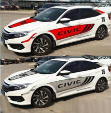 Vinyl Motorsport Auto Door Car Sticker Hood Bonnet Stripe Decal For Honda Civic