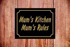 MUM's Kitchen MAMMA Regole segno 9368 IN ALLUMINIO/PVC/Adesivo romanzo IDEA REGALO