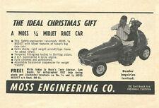 Vintage 1958 Moss Engineering Midjet Quarter 1/4 Midget Christmas Ad