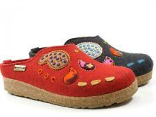 Haflinger 751006 Grizzly India Damen Hausschuhe Pantoffeln Wollfilz