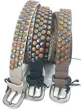 Cintura Donna Con Borchie Pelle Sintetica Borchie Colorate Fibbia Moda donna