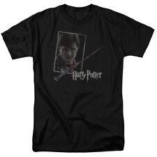 Harry Potter Harry's Wand Portrait Licensed Adult T Shirt