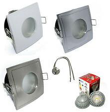 LED Decken Einbaustrahler Aquarius-S Eckig 12V GU5,3 MR16 5 Watt = 35 Watt