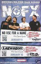 NOFX / OLD MAN MARKLEY/ LAGWAGON 2012 SAN DIEGO CONCERT TOUR POSTER - Punk Music