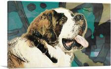 ARTCANVAS Saint Bernard Dog Breed Canvas Art Print