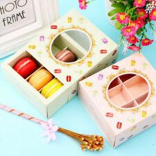 5Pc Opening Window Macaron Nougat Small Cake Packing Box 6 Cup 12x11x5.2cm Decor