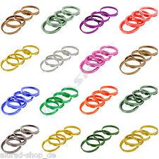 4 anelli di centraggio in alluminio anodizzati alluminio div. dimensioni AUDI VW BMW Opel Seat VW Mini