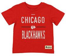 Reebok NHL Kids Chicago Blackhawks Descendant Short Sleeve Slub Tee, Red