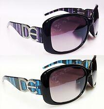NEUF de lunettes soleil dames femmes filles noir marque rétro vintage grand