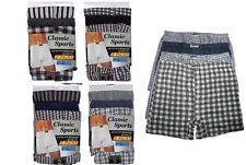 12 paires men's boxer shorts sous-vêtements, vérifiez plain rayure coton boxers s xl xxl
