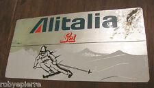 Vendo ADESIVO STICKER adesivi ALITALIA SCI compagnia aerea sport invernali ijich