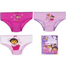 NEUF sous-vêtements fille SLIP CULOTTE Dora 3 pièces 92-98 104-110 116-122 #80