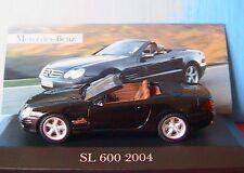 MERCEDES BENZ SL 600 2004 CABRIOLET NOIR IXO 1/43 ROADSTER BLACK NOIRE GERMANY