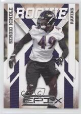 2010 Panini Epix Silver #186 Sergio Kindle Baltimore Ravens Rookie Football Card