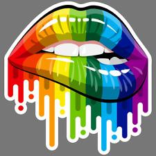 "Vinyl Decal Sticker Rainbow Cloud Emoji c183-3.75/"" x 3.75/"""